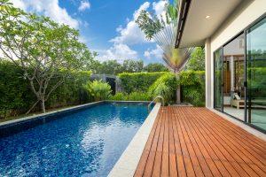 swimming pool decking garden luxury home